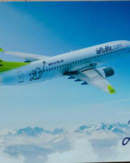 Air Baltic 737 Postcard