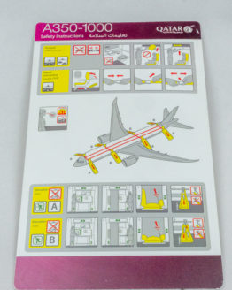 Qatar Airways A350-1000 Safety card