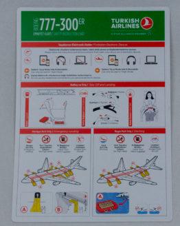 Turkish Airlines B777 SAFETYCARD