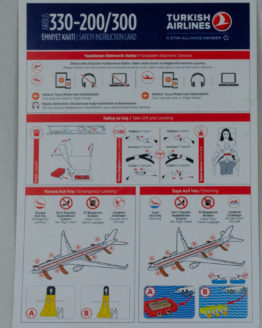 Turkish Airlines A330 Safety Card
