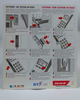 Lauda Air skyphone instructions