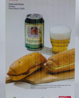Swiss On Board menu 2005