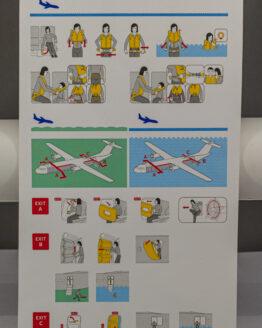 Czech Airlines ATR Safety Card